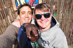 JP and Rich at Ratang Bana in Alexandra, Johannesburg, South Africa